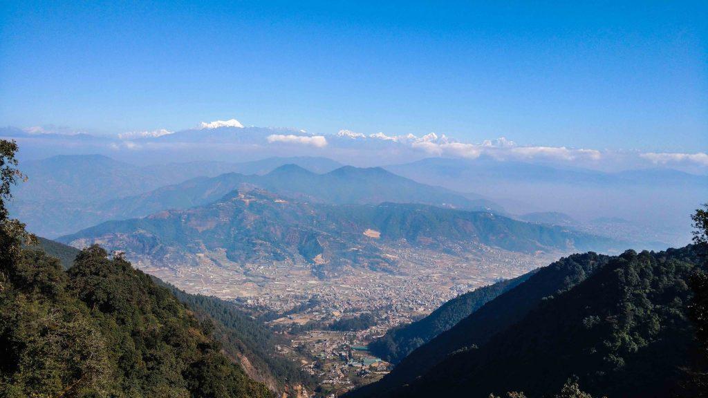 Chandragiri - Top view of Kathmandu and Mountain Ranges