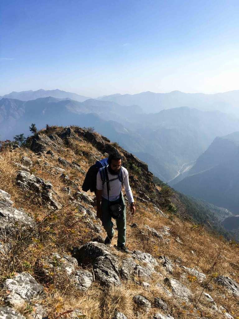 View from Rasauli Danda, Near Chhimkeshwori - Imfreee.com
