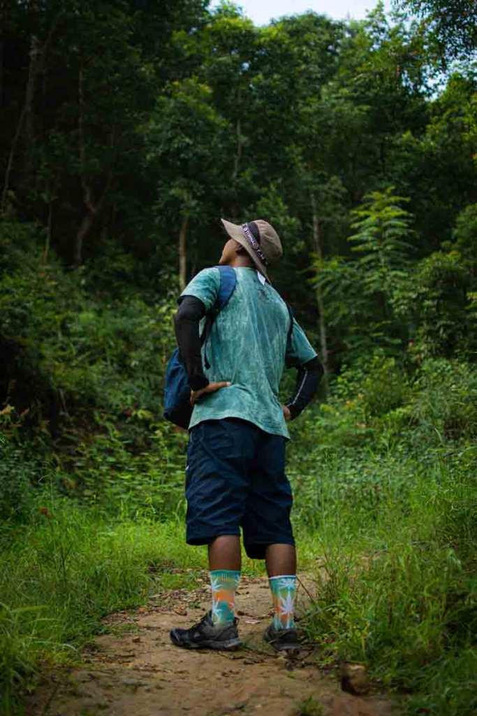 Enjoying Wil Dahachowk Hiking Trail