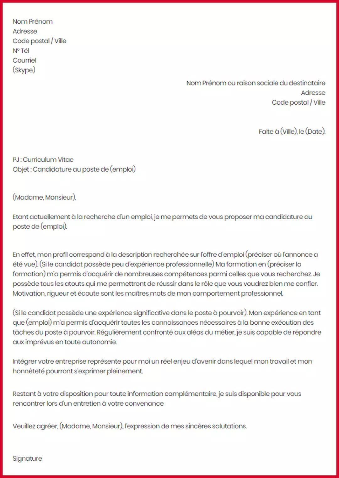 meilleur ecrire un lettre administrative modele de lettre