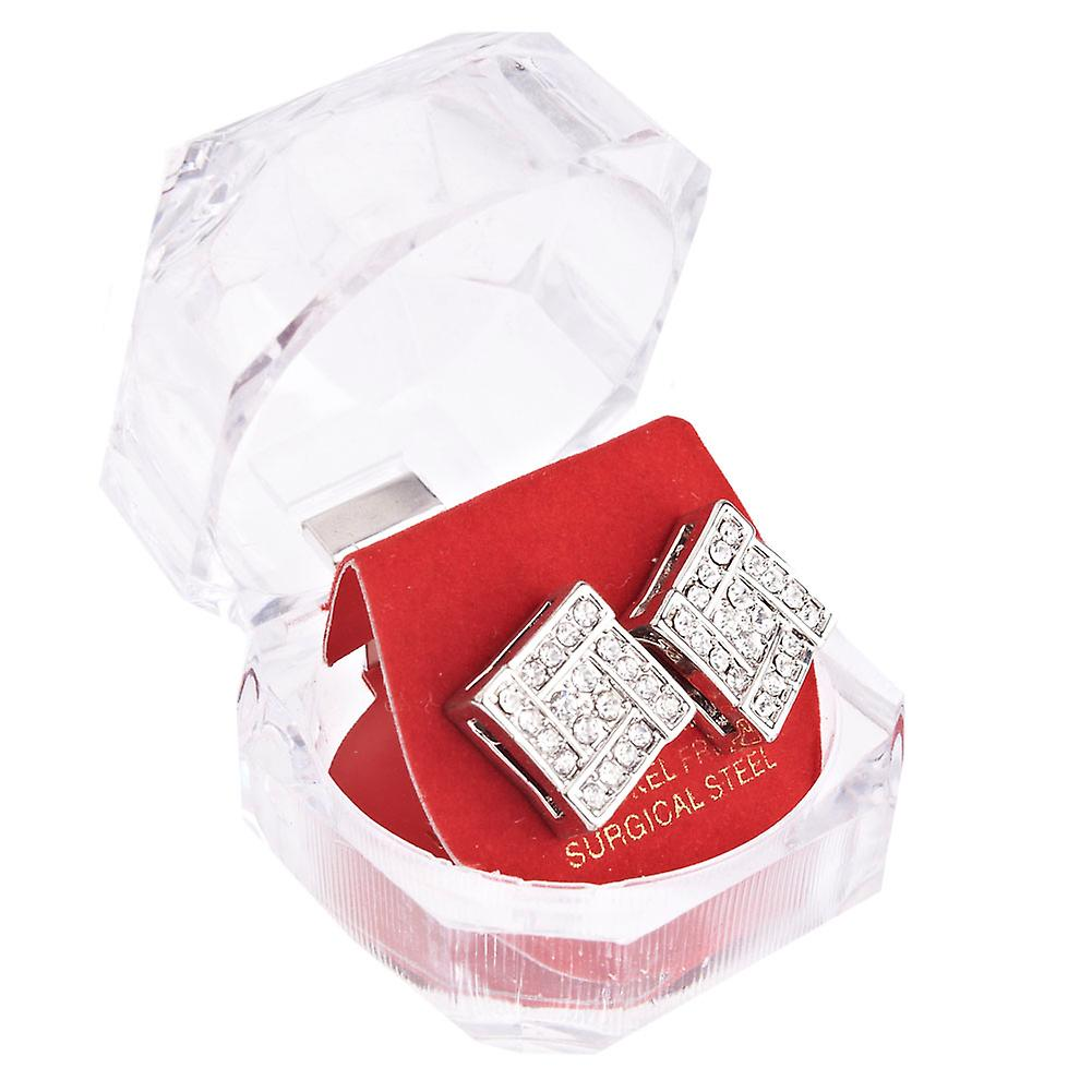 Iced out bling hip hop earrings