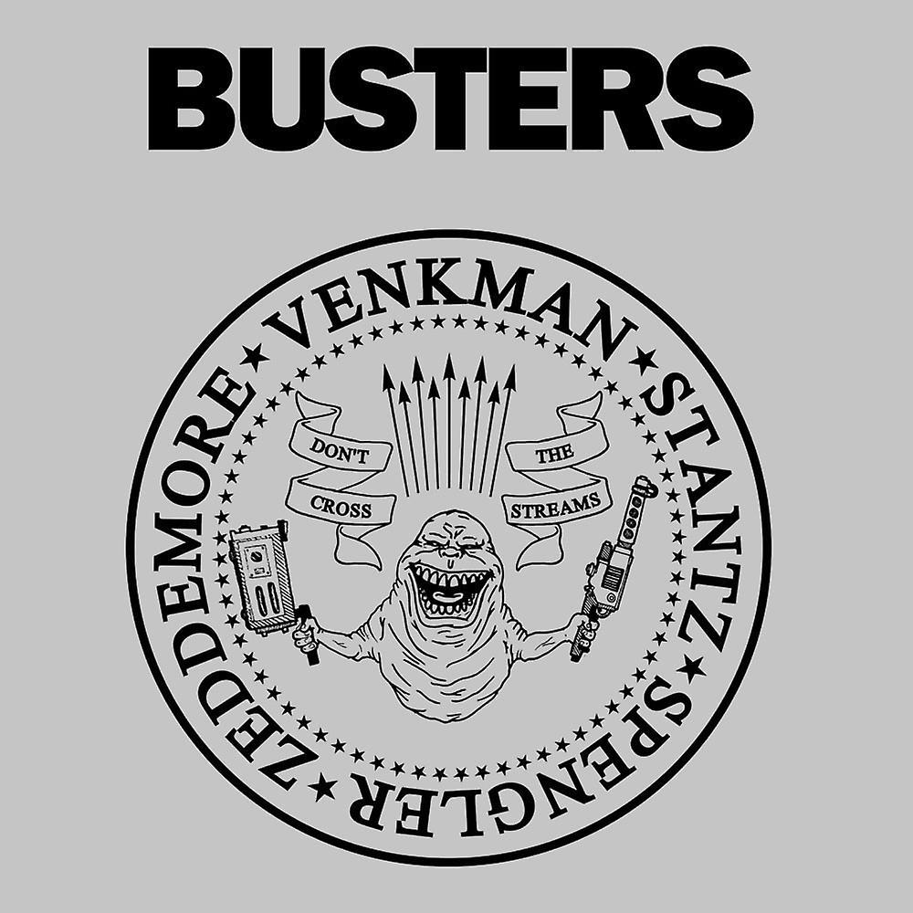 Ramones Busters Slimer Ghostbusters Logo Black Men's