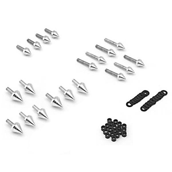 Motorcycle Spike Fairing Bolts Silver Spiked Kit For 2003