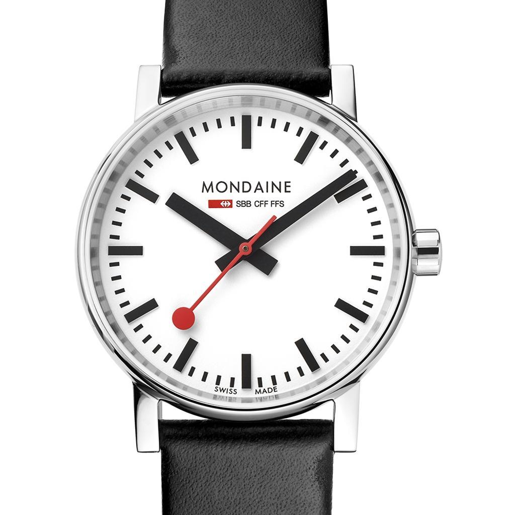Mondaine  Die Bahnhofsuhr als Armbanduhr