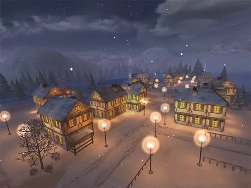 Free Snow Falling Animated Wallpaper Download The Latest Version Of Winter Town 3d Screensaver