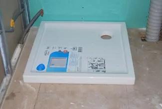 pose receveur douche sur plancher