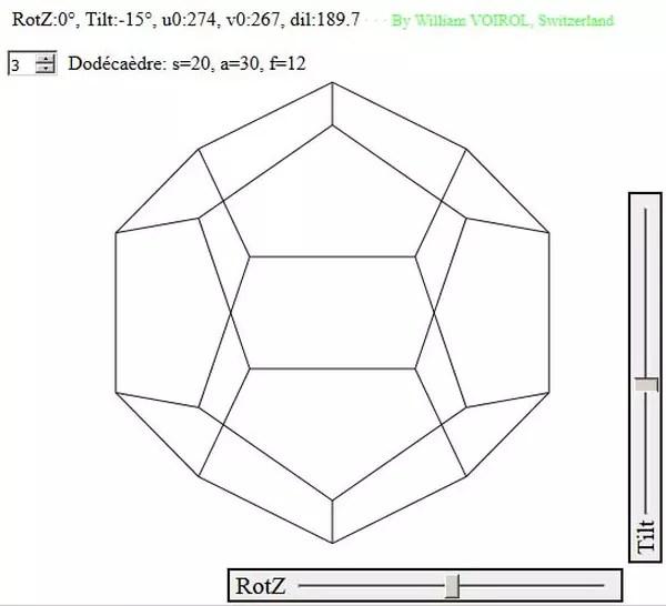 Javascript : Retro-B: Les solides de Platon au trait