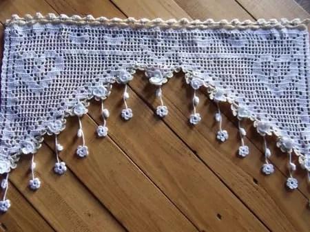 recherche de modeles rideaux crochet