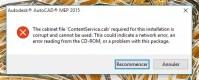Problme installation Autocad 2015 avec win 10 - Forum AutoCAD