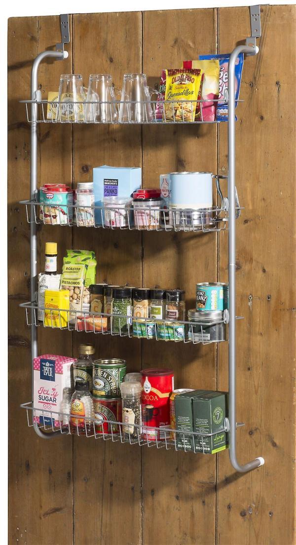 4 Tier Over Door Hanging Rack Shelves Pantry