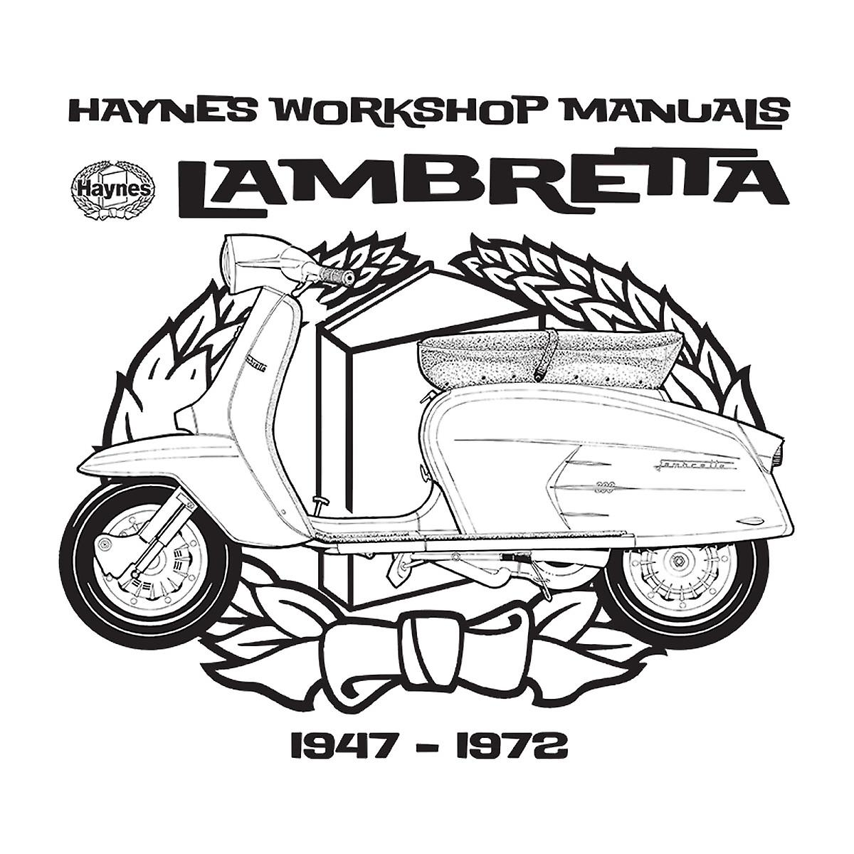 Haynes Owners Workshop Manual Lambretta 3 Men's Baseball