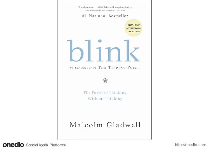 Blink (Düşünmeden Düşünebilmenin Gücü) - Malcolm Gladwell