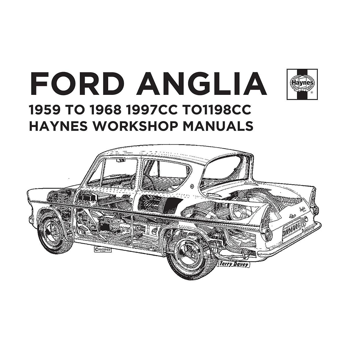 Haynes Workshop Manual 0001 Ford Anglia Black Men's