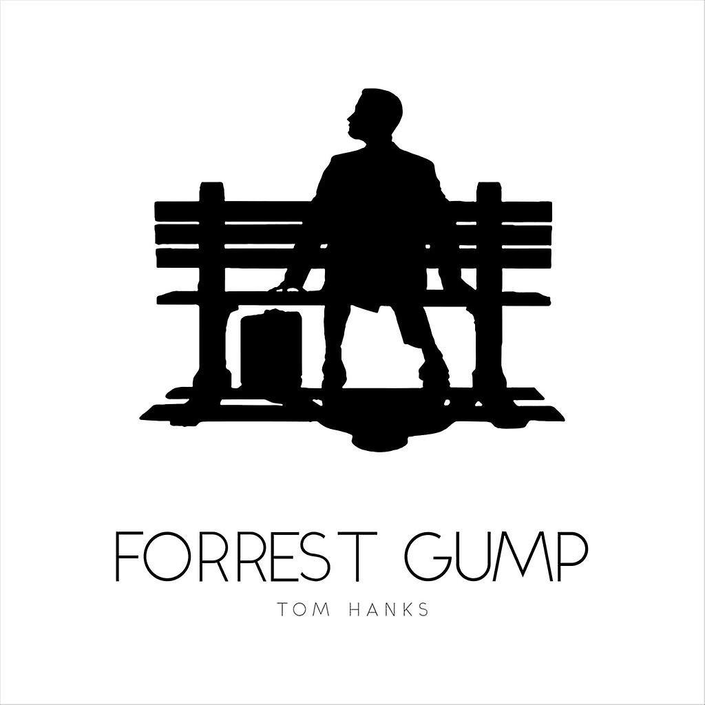 Forrest Gump Bench Movie Silhouette Men's Baseball Long