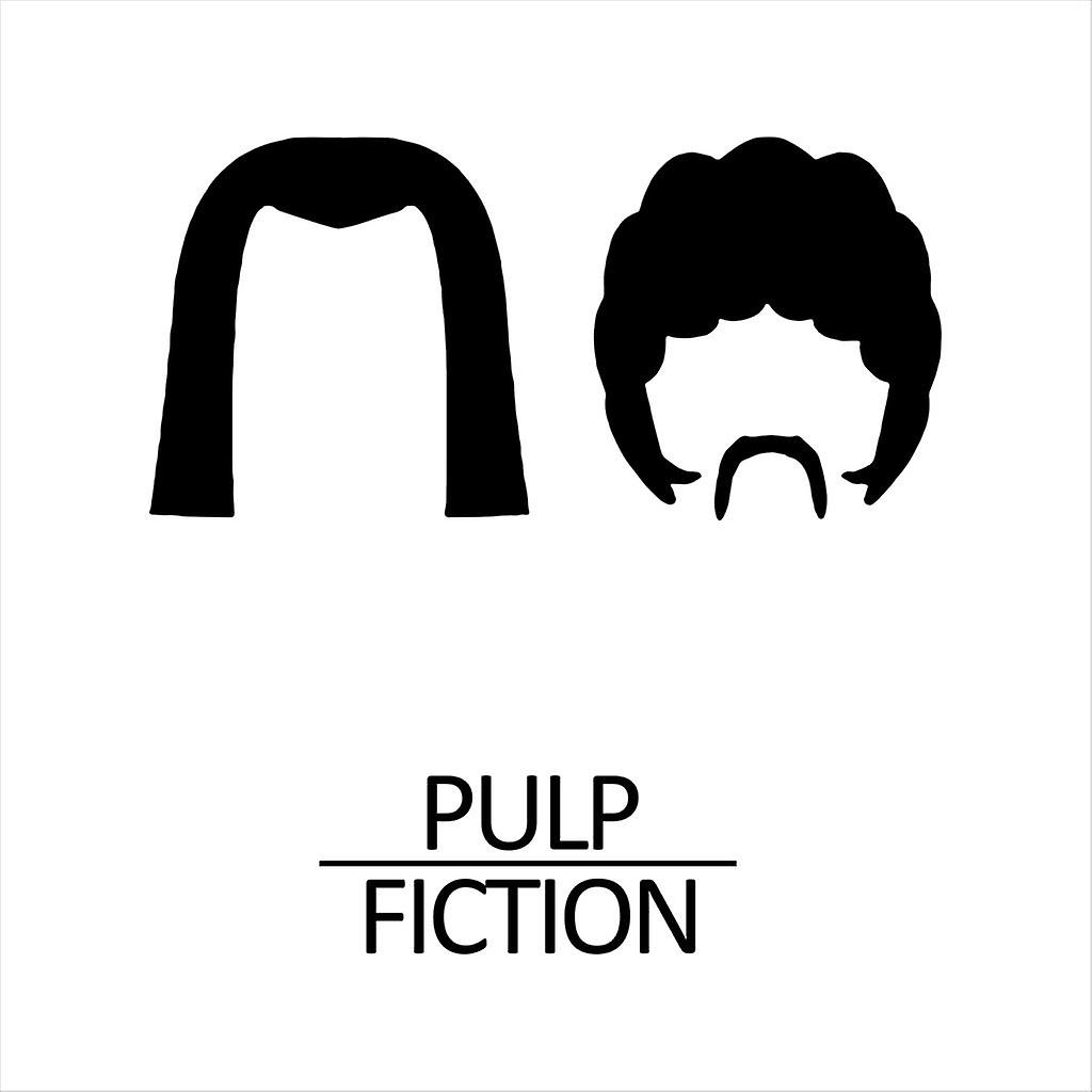 Pulp Fiction Haircuts Movie Silhouette Men's Sweatshirt
