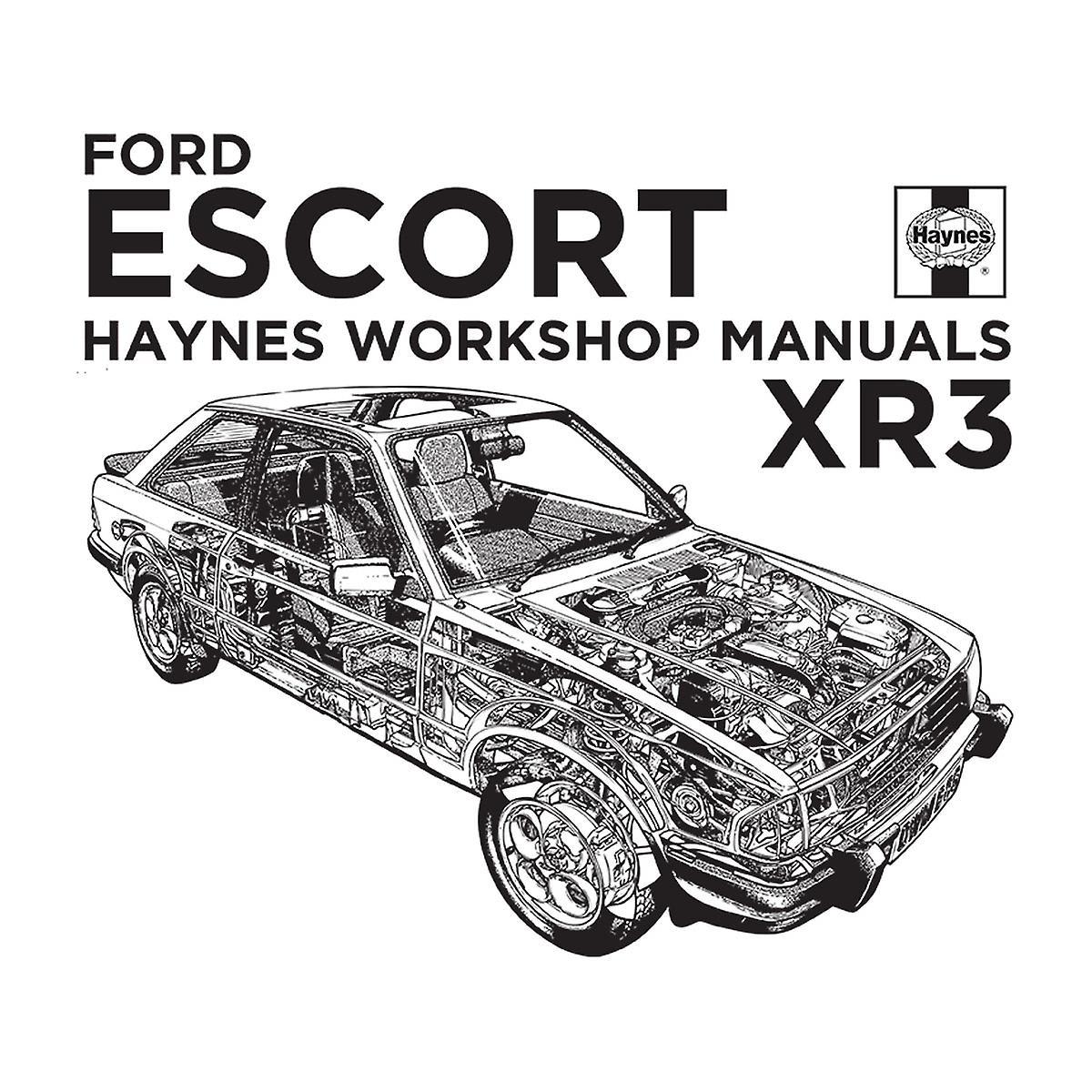 Haynes Owners Workshop Manual Ford Escort Black Men's