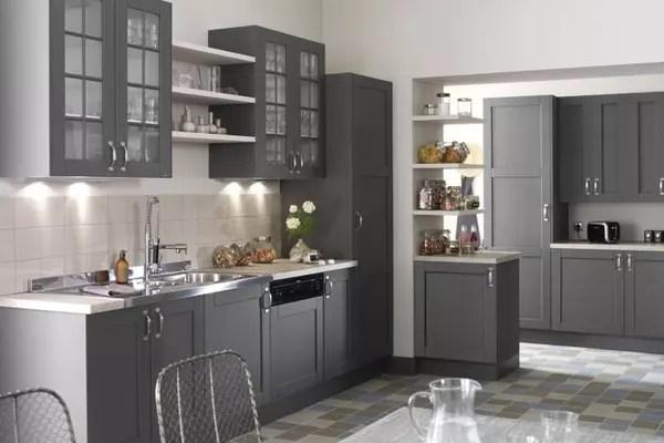 meuble cuisine gris