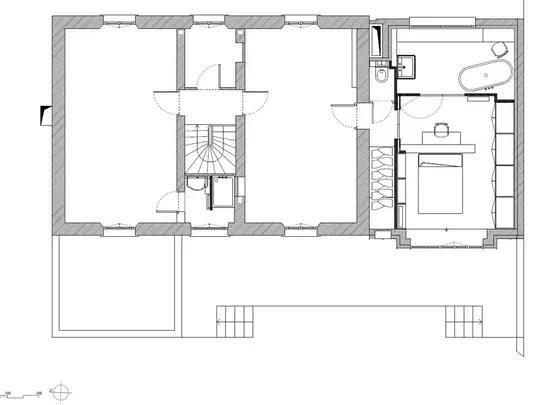 Après : le plan de l'étage