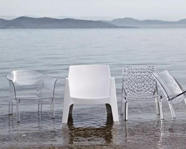 chaise paris lux transparente de leroy