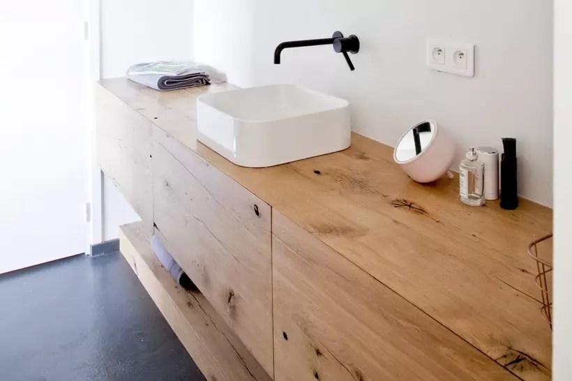 salle de bains en bois tout pour une