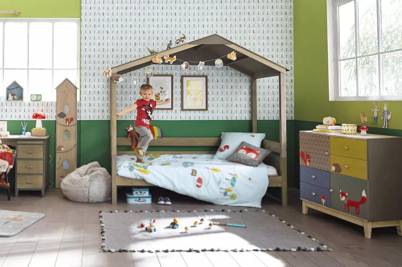 lit cabane en pin maisons du monde