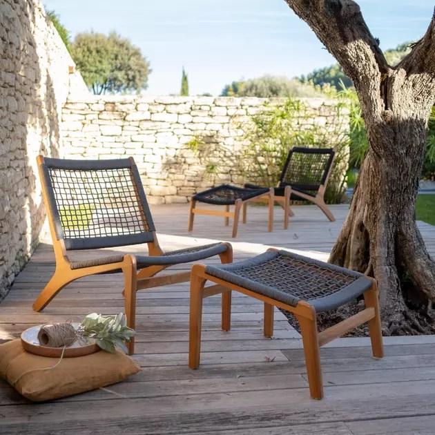 fauteuil tresse outdoor alinea