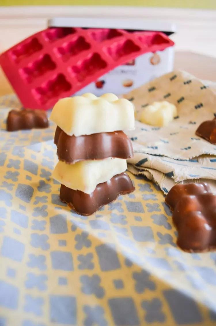 guimauve nounours chocolat