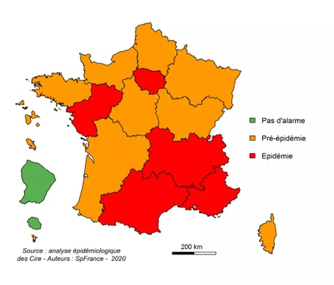 carte epidemie grippe 2020 map, first symptoms, how to avoid contagion? | Web24 News