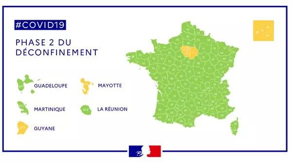 france map orange green zone