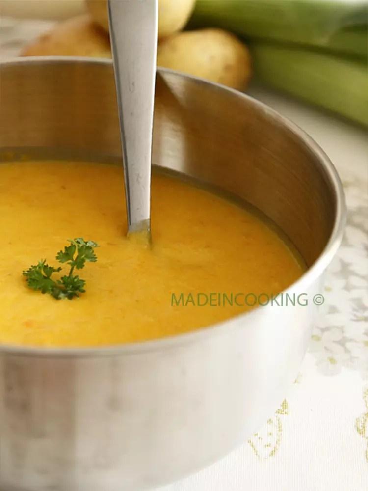 Soupe Poireau Carotte Pomme De Terre : soupe, poireau, carotte, pomme, terre, Recette, Velouté, Poireaux,, Pommes, Terre,, Carottes