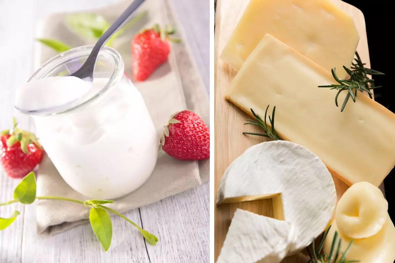 Yaourt ou morceau de fromage
