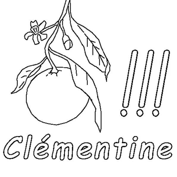 Coloriage Clémentine en Ligne Gratuit à imprimer