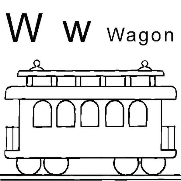 Kleurplaat Wagon • Kidkleurplaat.nl