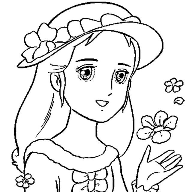 Coloriage Princesse en Ligne Gratuit à imprimer
