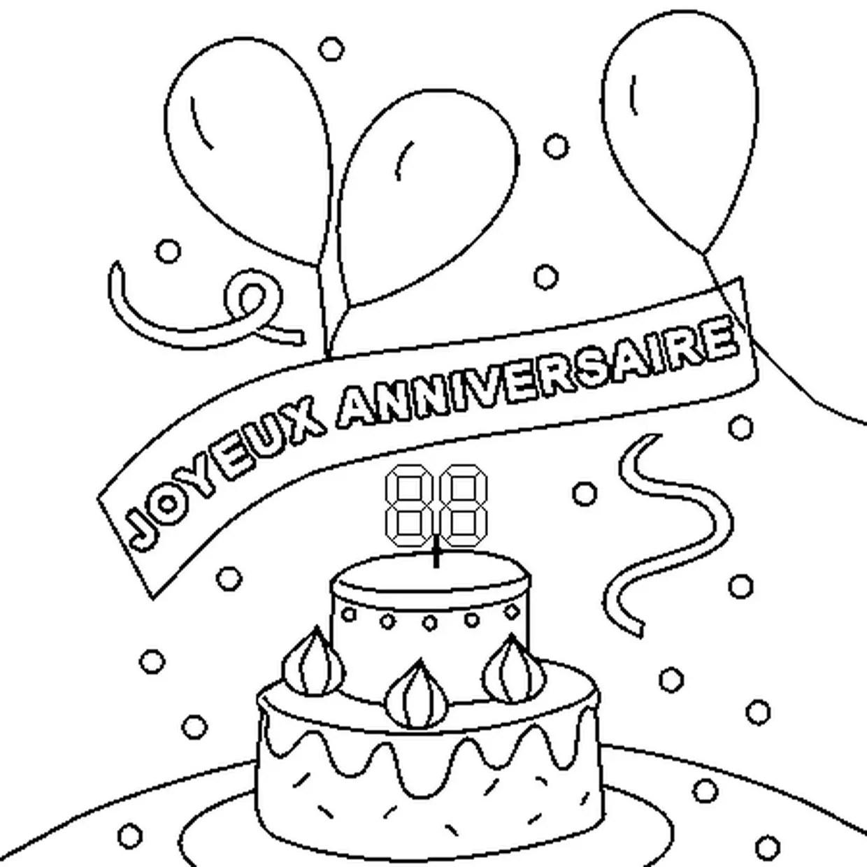 coloriage joyeux anniversaire en ligne