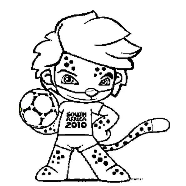 Coloriage de la Coupe du Monde 2010 en Ligne Gratuit à