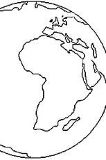 Comment Dessiner La Terre : comment, dessiner, terre, Coloriage, Terre, Ligne, Gratuit, Imprimer