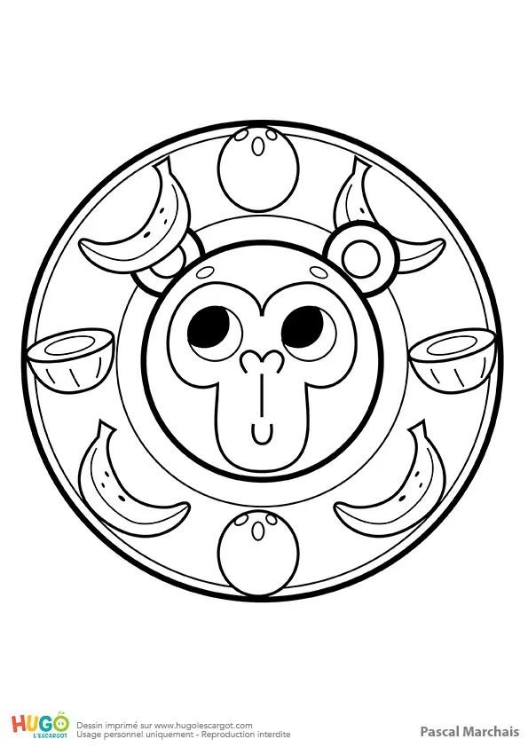 Mandala singe, pour les petits