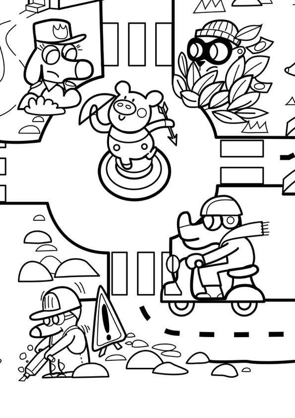 Coloriage géant du jeu de la route numéro 7