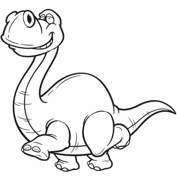 Coloriage Dinosaure au long cou en Ligne Gratuit à imprimer