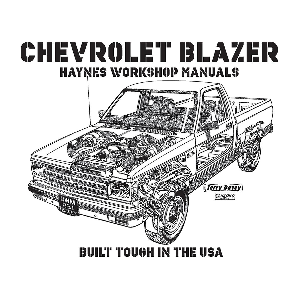 Haynes Owners Workshop Manual Chevrolet Blazer Black Men's