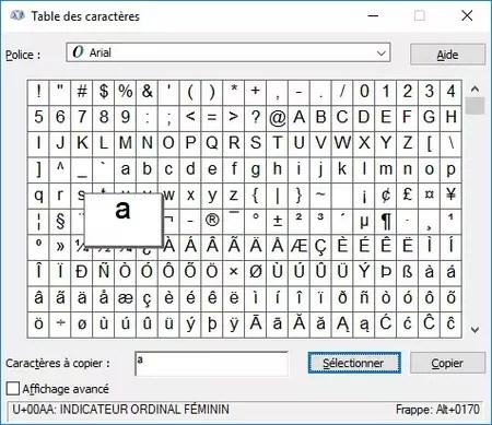 Comment insérer des caractères spéciaux