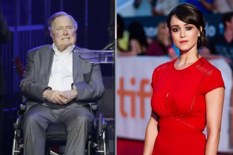 George Bush père: l'ancien président accusé d'attouchements sexuels par une actrice©LM Otero/AP/SIPA & Vito Amati/NEWSCOM/SIPA