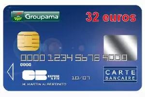 groupama banque avec une carte bleue