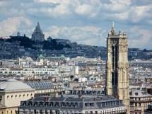 La Tour Saint-jacques Montmartre Vus De Notre-dame