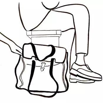 Poser son sac à main par terre