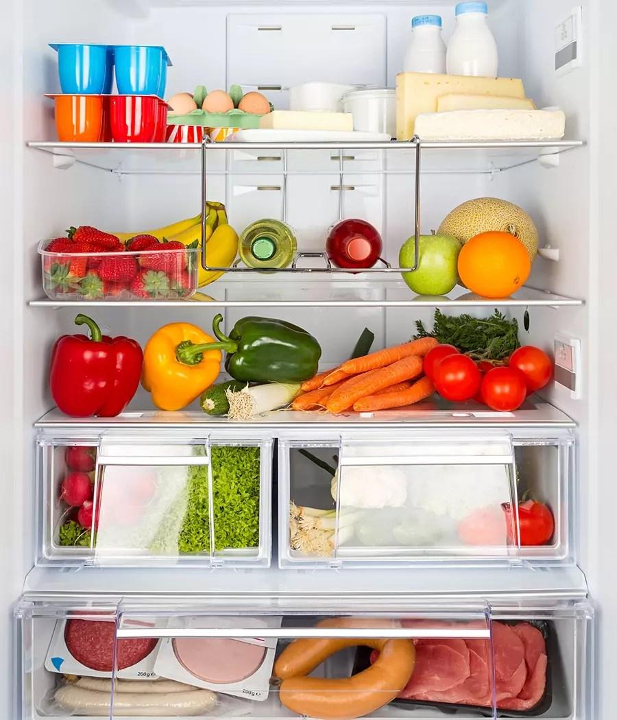 ranger les aliments dans la zone adequate