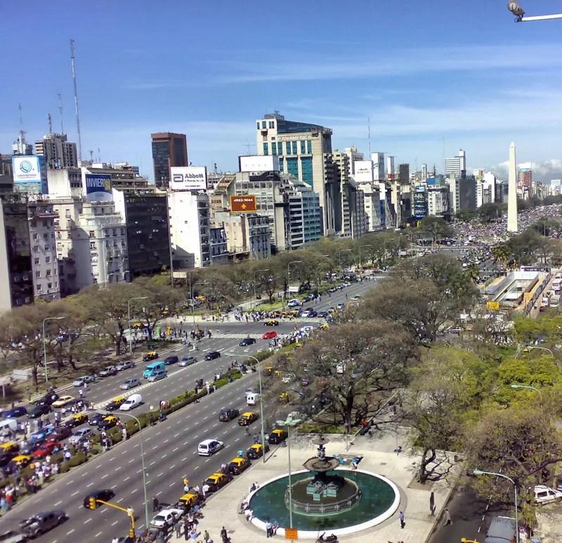 Aires Julio De La Du Buenos Route Plus La 9 Large Monde Argentine