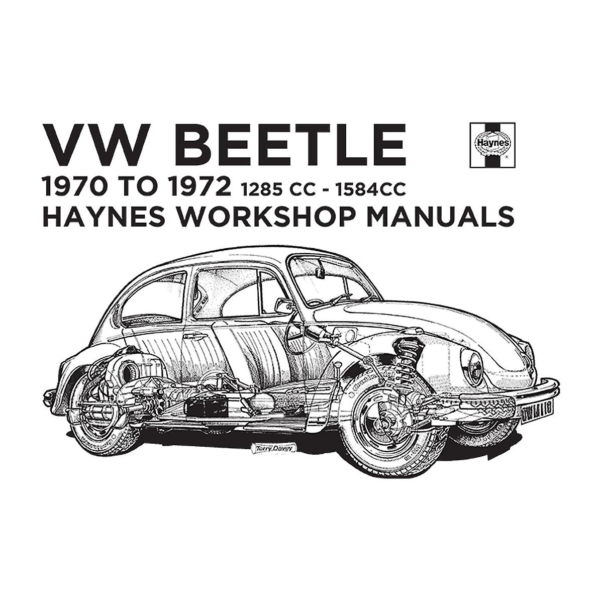 Haynes Workshop Manual VW Beetle 70 To 72 Black Women's T
