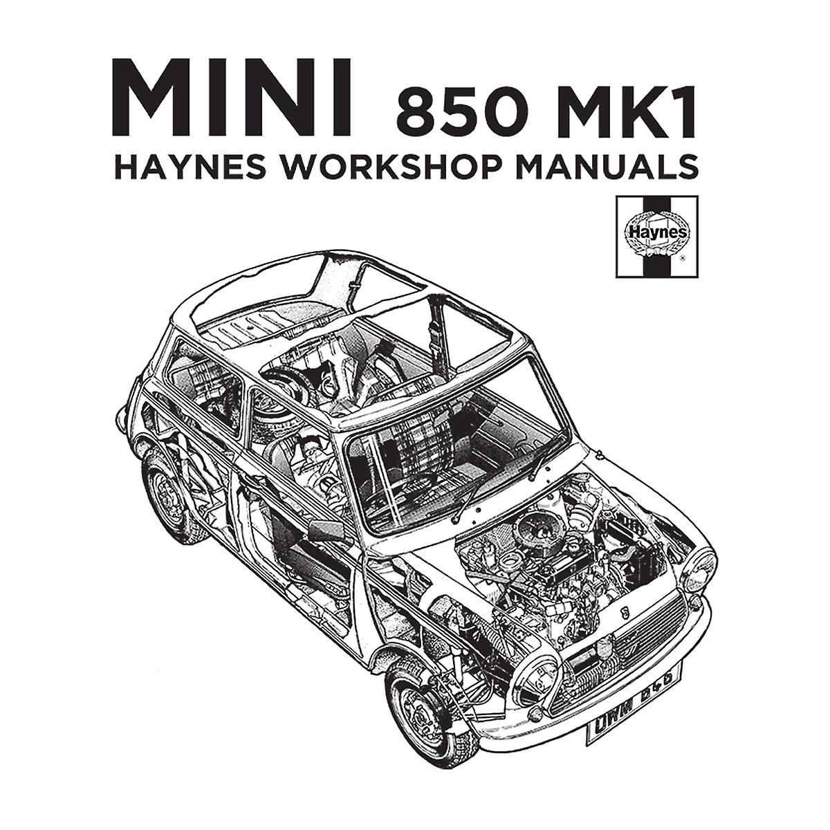 Haynes Workshop Manual Mini MkI Black Men's Baseball Long